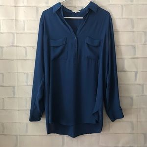 Pleione | blue button up tunic